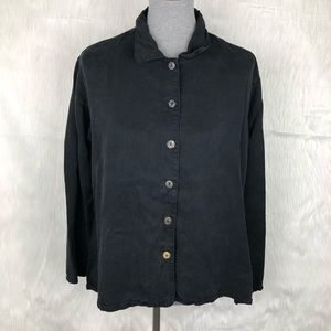 Bryn Walker Black Button Down Shirt